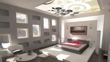 Gri Beyaz Yatak Odası Dekorasyon Fikirleri