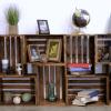 DIY Ahşap Kasalardan Kitaplık Yapımı