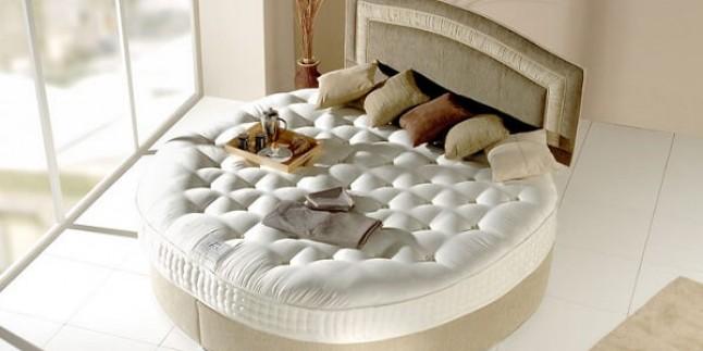 Yatak Odası İçin Yuvarlak Yatak Tasarımları