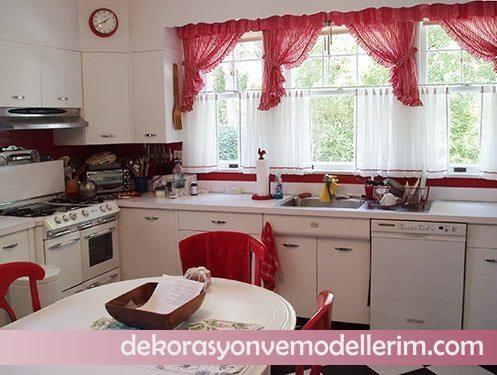2017 son moda mutfak perde modelleri ev dekorasyonu ve yeni modeller. Black Bedroom Furniture Sets. Home Design Ideas