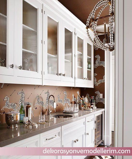 Mutfak Tavan Tasarimlari 5: Dekorazon Mutfak Duvar Kağıdı Modelleri