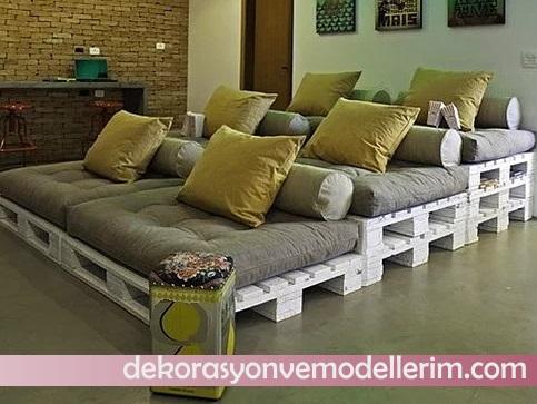 Paletten Yatak Odasi Ev Dekorasyonu Ve Yeni Modeller